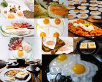 早餐煎鸡蛋摄影高清图片