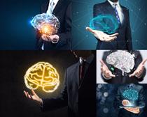 商务男人与科技摄影高清图片