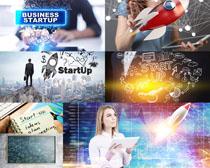 商务图标与人士摄影高清图片
