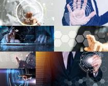 科技与触屏男人摄影高清图片
