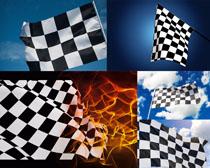 赛车旗帜摄影高清图片