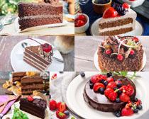蛋糕与草莓甜品摄影高清图片