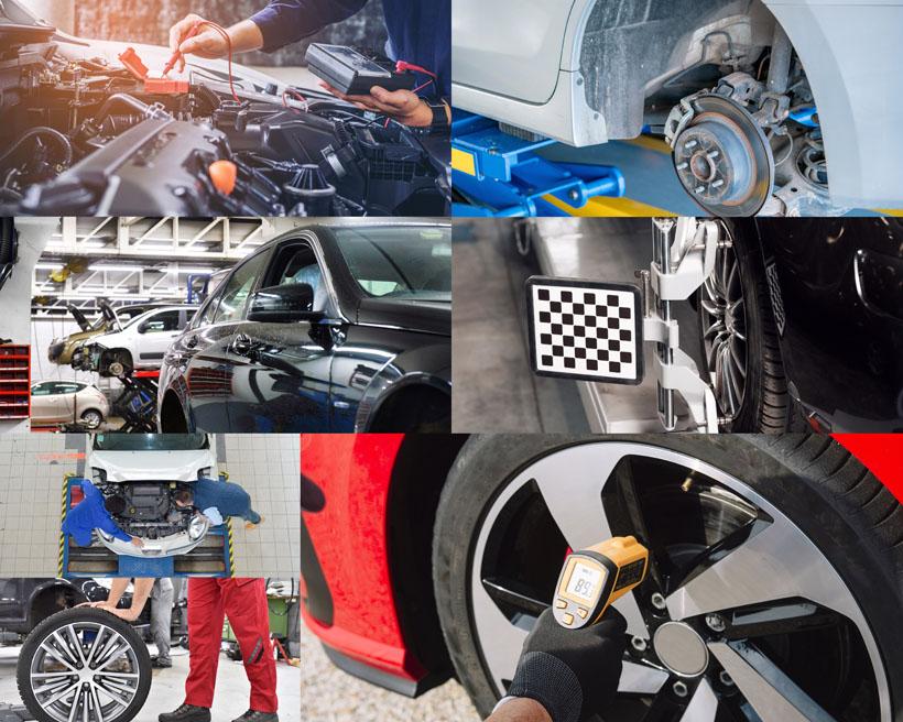 汽车检查定位摄影高清图片