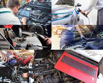 汽车设备检查摄影高清图片