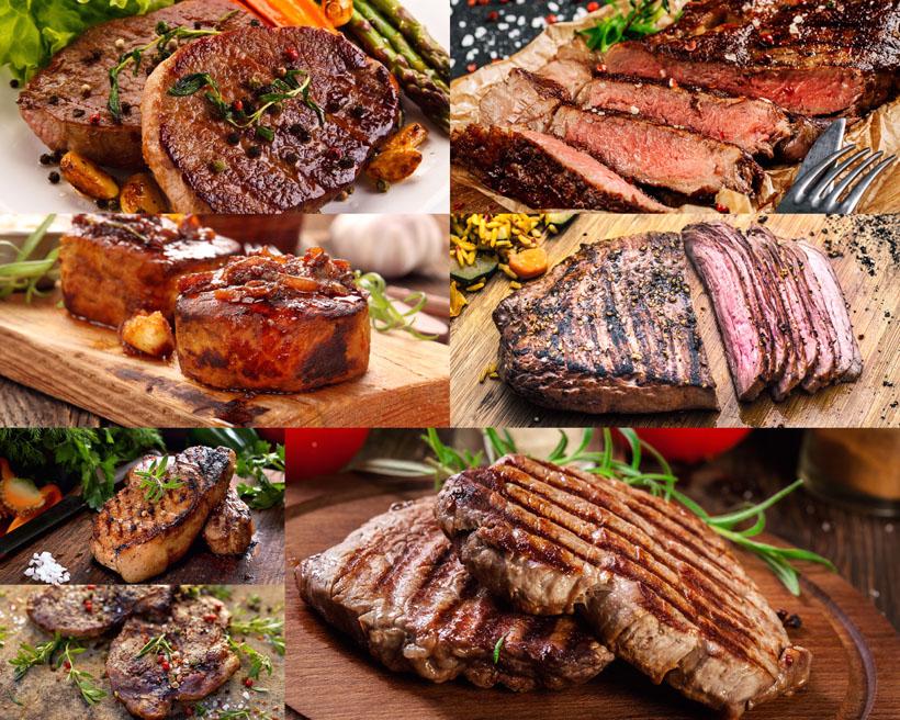 食物牛排展示摄影高清图片