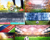 2018足球比赛场摄影高清图片