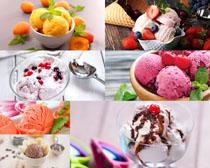 色彩冰淇淋拍摄高清图片