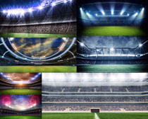 足球比赛场地摄影高清图片