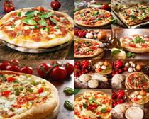 欧式披萨食物摄影高清图片
