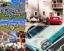 老式古典汽车摄影高清图片