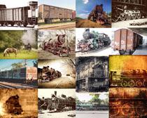 老式火车摄影高清图片