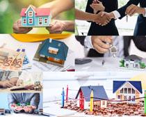 模型房屋金融攝影高清圖片