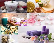 spa蜡烛精油工具摄影高清图片