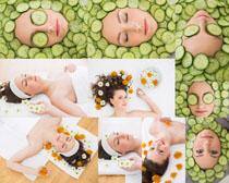 黄瓜护理美容美女摄影高清图片