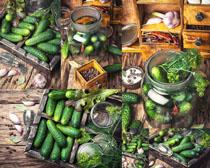 黄瓜蔬菜调料摄影高清图片