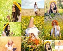 花海欧美美女拍摄高清图片