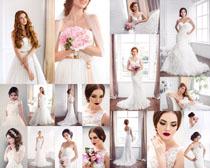 婚纱欧美美女拍摄高清图片
