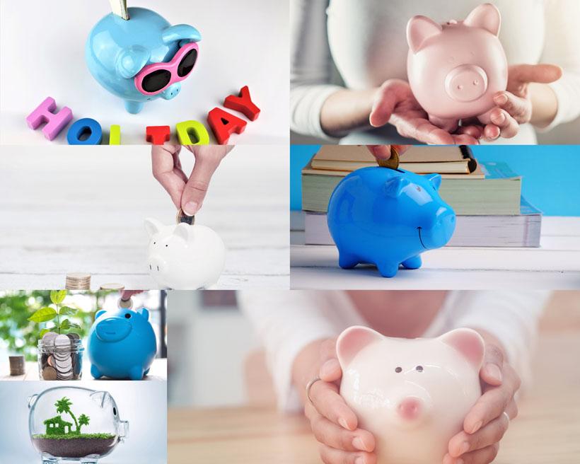 可爱存钱罐小猪拍摄摄影金融商务高清图片图片素材图库素材 注意