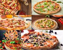 鲜美披萨食物摄影高清图片