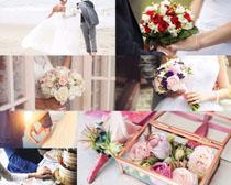 爱情婚纱花朵摄影高清图片