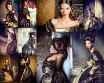 欧式服装女性摄影高清图片