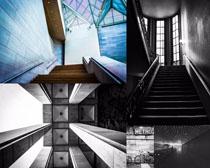 樓梯口建筑攝影高清圖片
