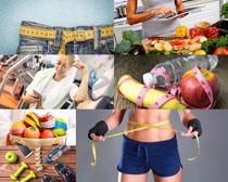 食物与减肥�l身摄影高清图片