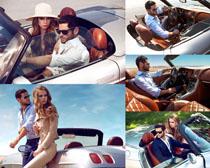 跑车与欧美男女摄影高清图片