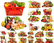 蔬菜水果篮子摄影高清图片