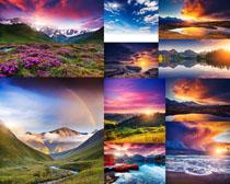 夕阳唯美景观摄影高清图片