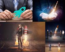 火箭商务男士摄影高清图片