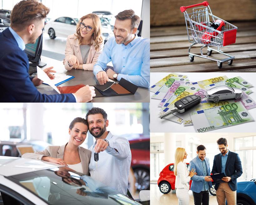 开心购车人物摄影高清图片