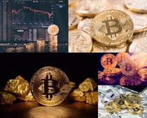 金融比特币摄影高清图片