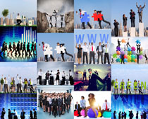 商务团队组合人物摄影高清图片