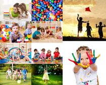 玩耍的儿童拍摄高清图片