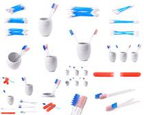 牙刷与杯子摄影高清图片