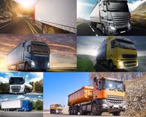 公路上的大货车摄影高清图片