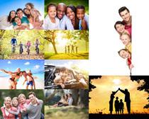 开心的家庭人物摄影高清图片