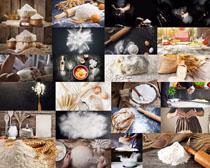 面粉与鸡蛋摄影高清图片