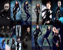 黑衣模特美女摄影高清图片