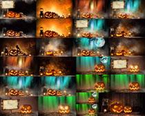 万圣节南瓜装饰摄影高清图片