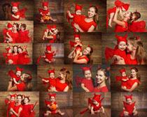 万圣节母子摄影高清图片