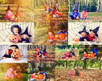 万圣节快乐儿童摄影高清图片