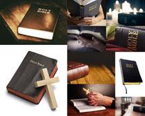信仰与书本摄影高清图片