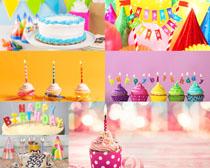 蜡烛与蛋糕摄影高清图片
