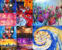 油畫藝術攝影高清圖片