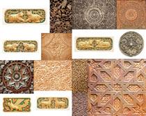 古代雕刻花纹摄影高清图片