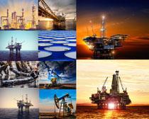 海上石油机器摄影高清图片