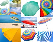 太阳雨伞摄影高清图片