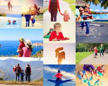 儿童与父母摄影高清图片